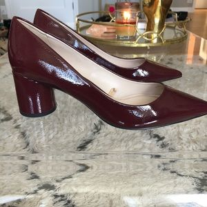 Zara Basic Collection Low Heels in Burgundy (38)